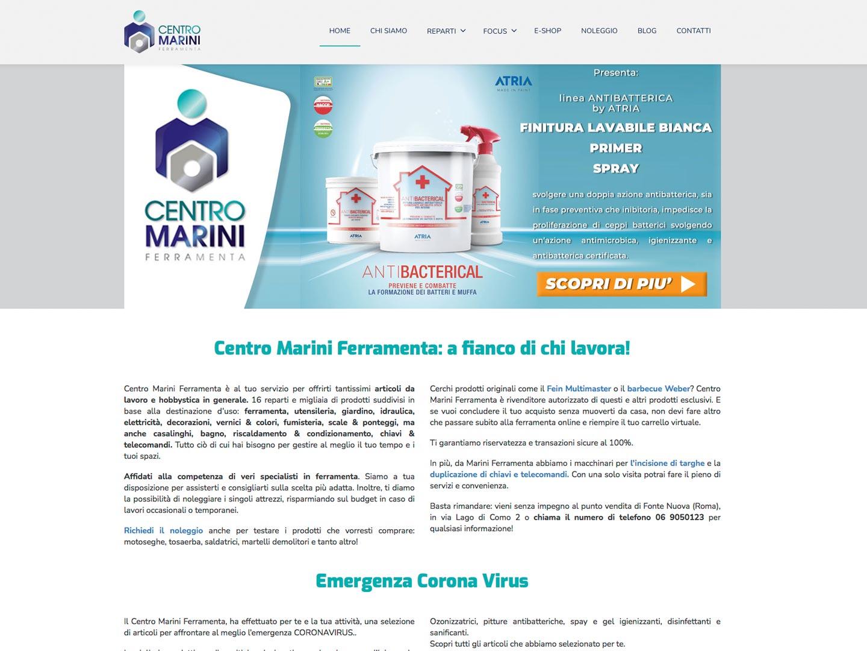 realizzazione sito web centro marini ferramenta
