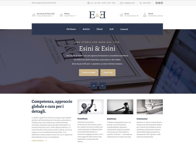 realizzazione sito web esini
