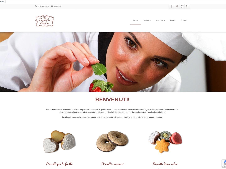 realizzazione sito web biscottificio casilino