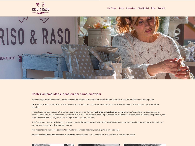 realizzazione sito web riso & raso