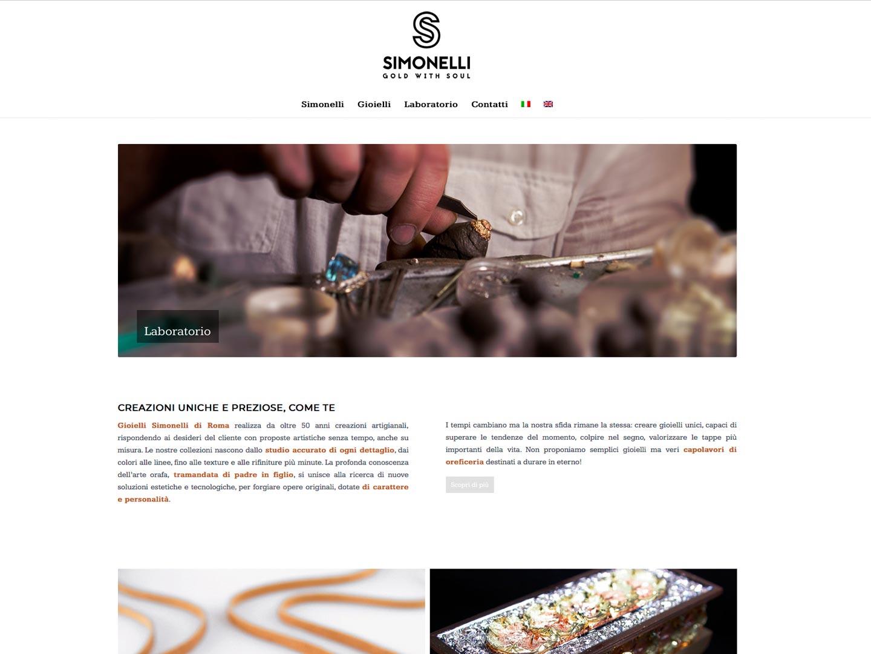 realizzazione sito web gioielli simonelli