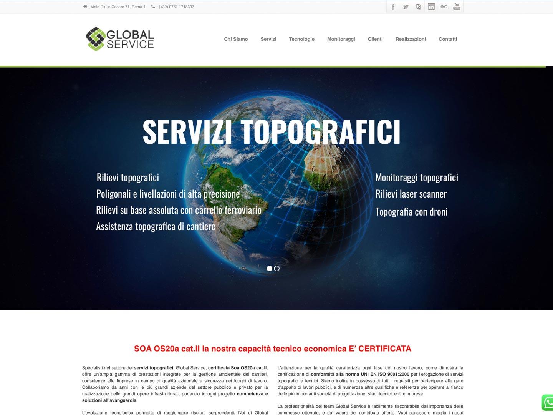 realizzazione sito web global service