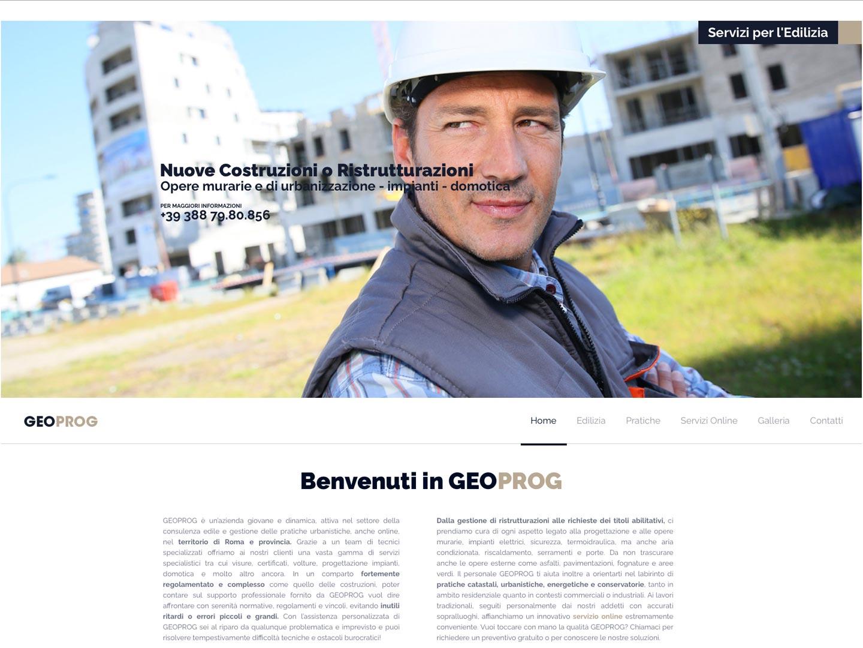 realizzazione sito web geoprog