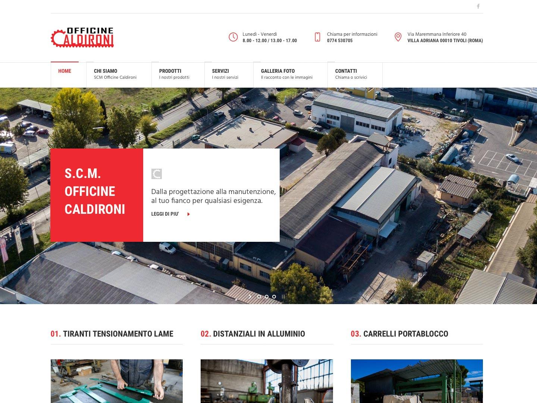 realizzazione sito web officine caldironi