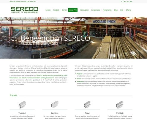 realizzazione sito web siderurgica sereco