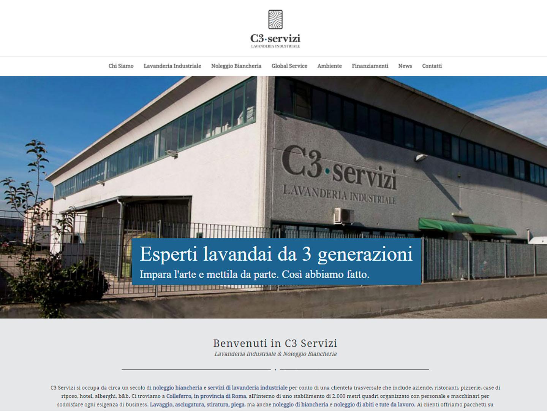 realizzazione sito web c3 servizi