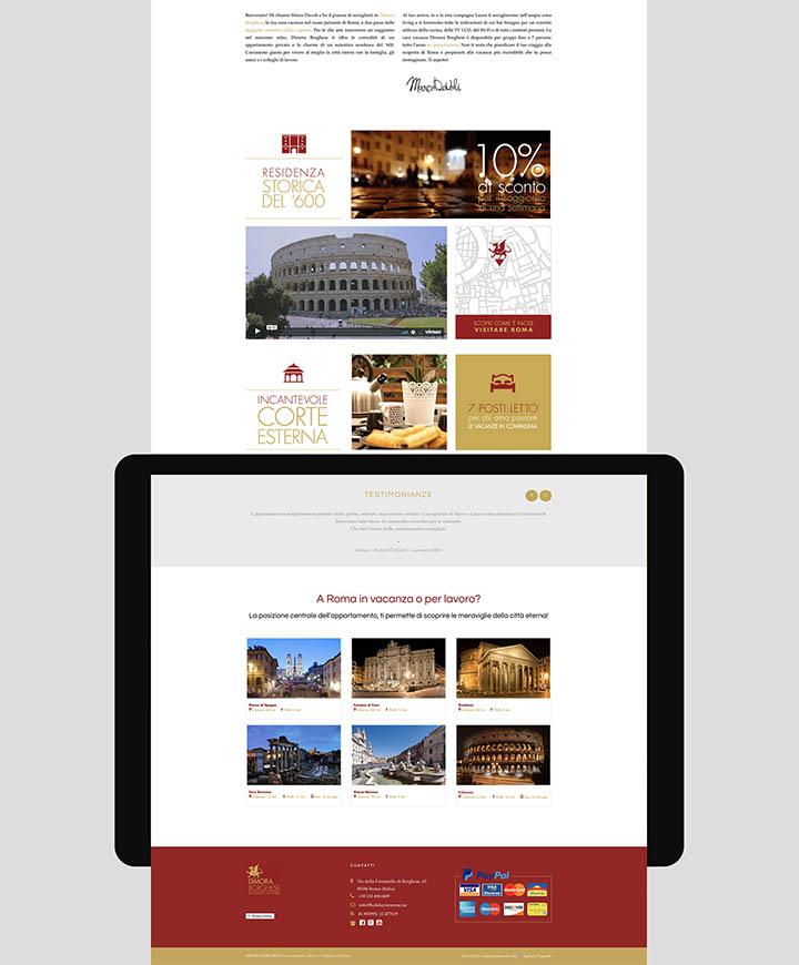 realizzazione sito web dimora borghese