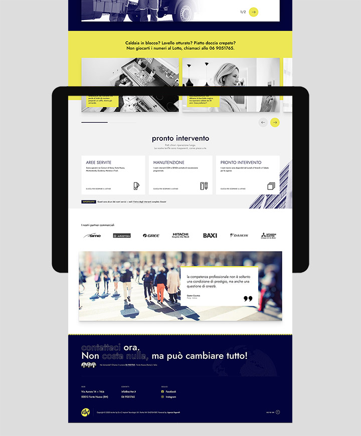 realizzazione sito web per acriter