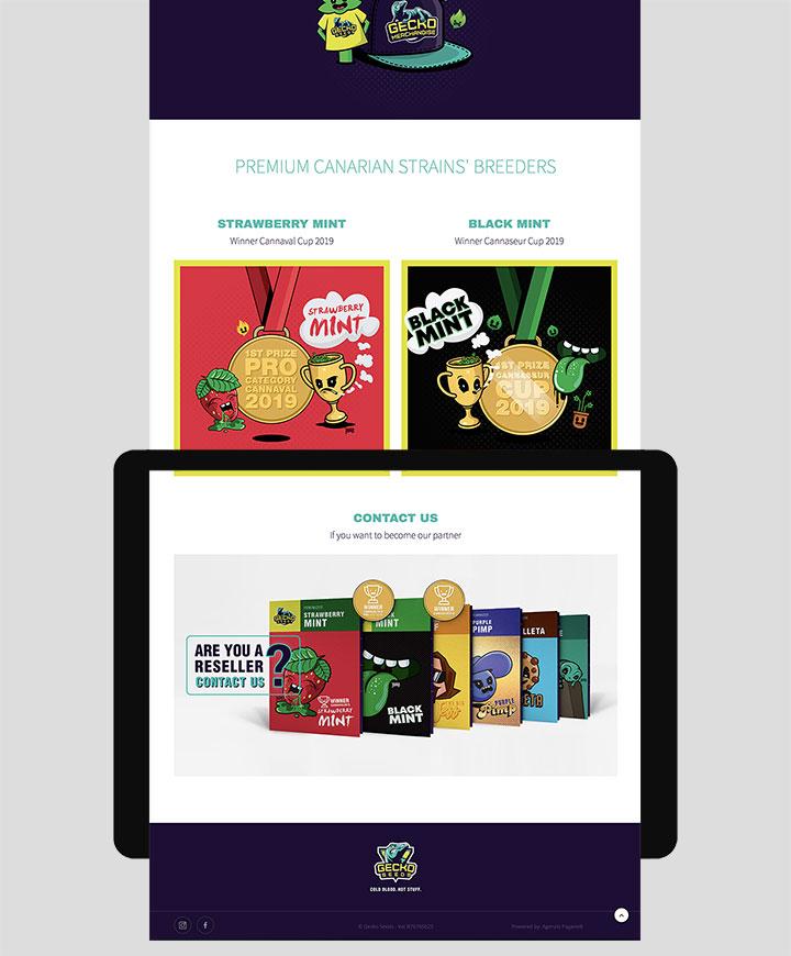 realizzazione sito web gecko seeds