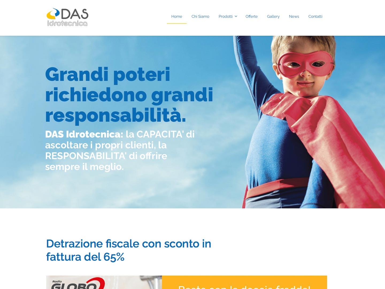 realizzazione sito web das idrotecnica
