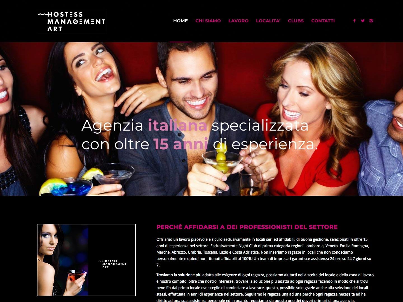 realizzazione sito web hostess management art
