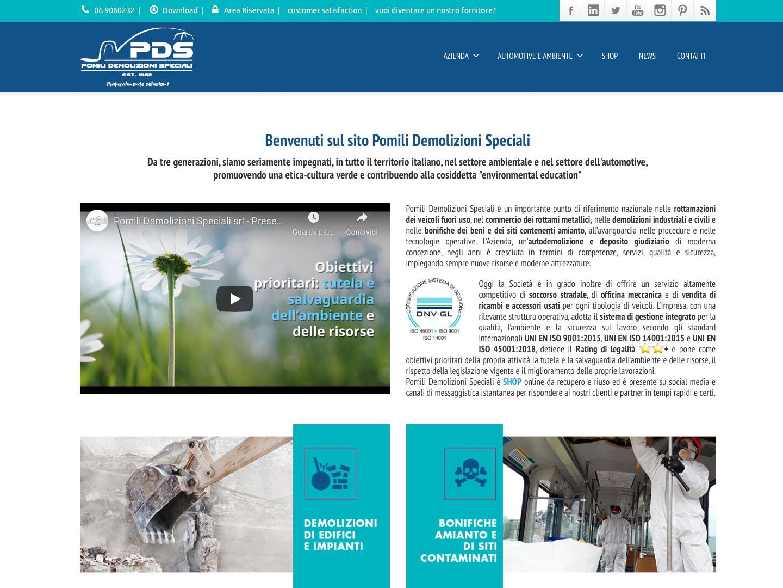 realizzazione sito web pomili demolizioni speciali