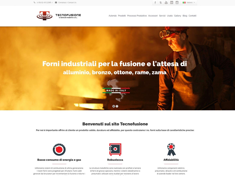 realizzazione sito web tecnofusione