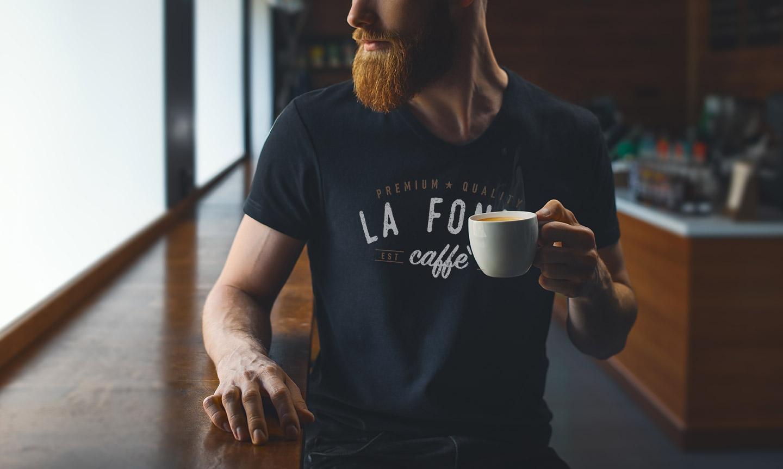 abbigliamento personalizzato la fonte caffè