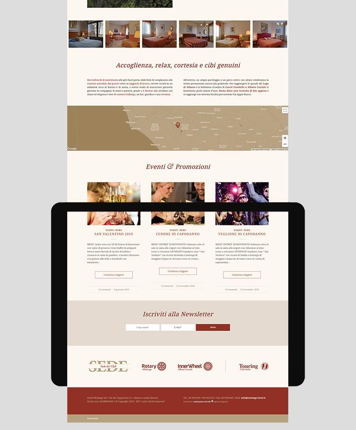 realizzazione sito web hotel miralago