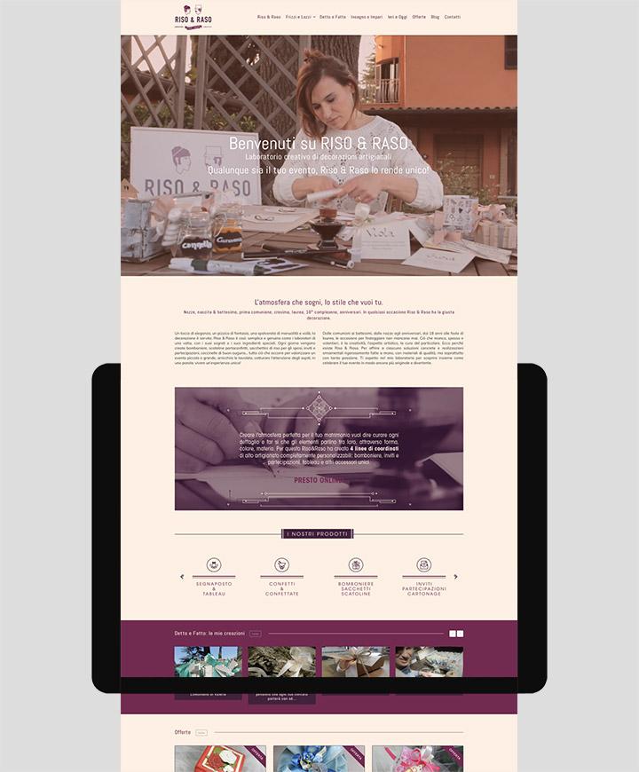 realizzazione sito web riso e raso