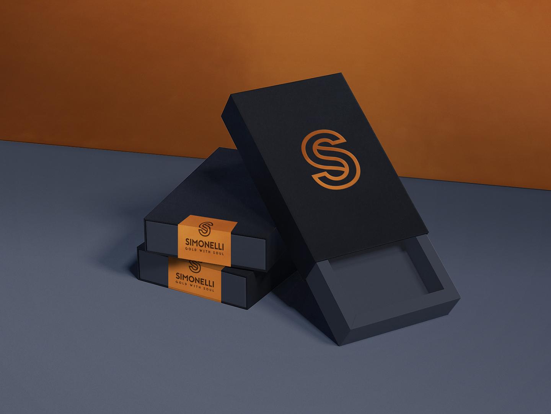 packaging per gioielli simonelli