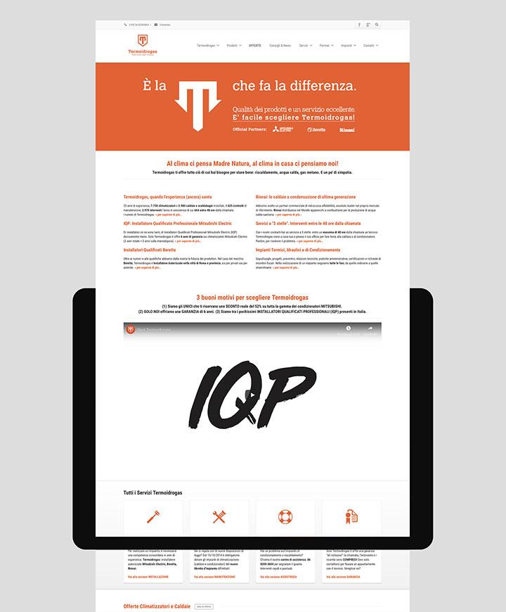 realizzazione sito web termoidrogas