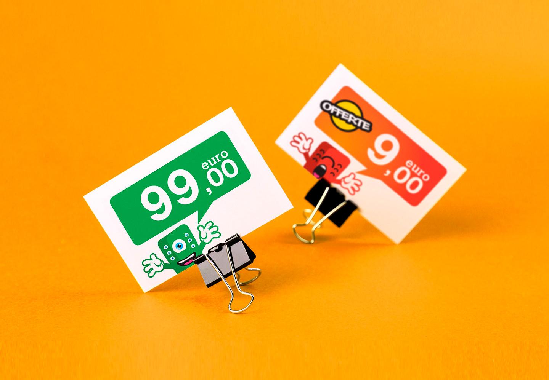 grafica per cartellino prezzi cimini