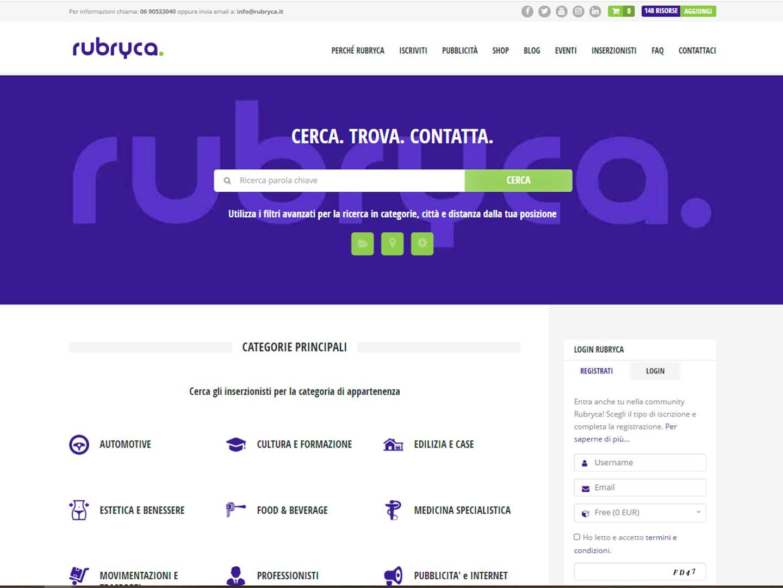 realizzazione sito web rubryca