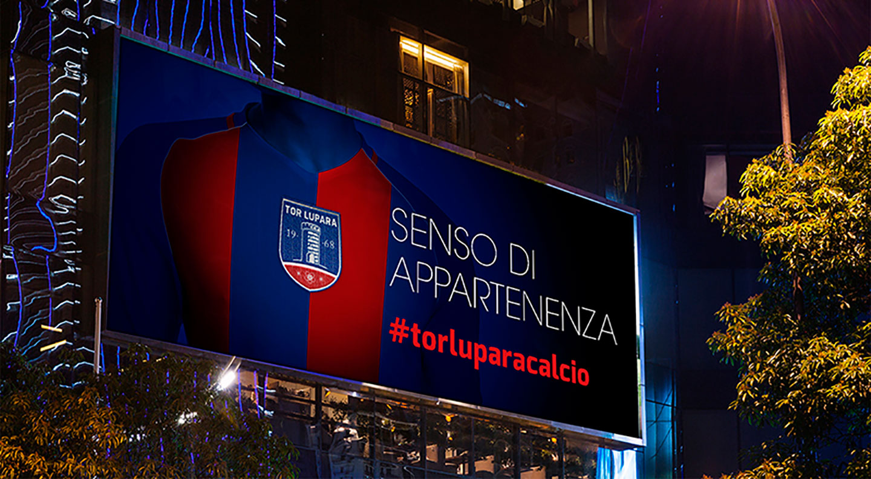campagna affissione ads tor lupara calcio