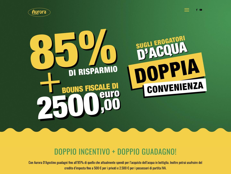 realizzazione sito web aurora d'agostino