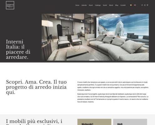realizzazione sito web interni italia