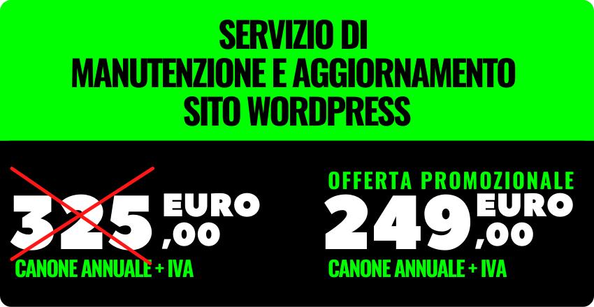 servizio aggiornamento siti wordpress